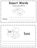 Insects Words Trace & Write Book