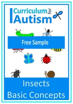 Insects Matching Write and Wipe Cards, FREEBIE, Autism, Special Education