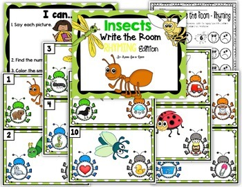 Insects Write the Room - Rhyming Edition