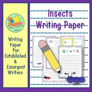 Insects Writing Paper