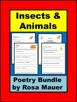 Insects and Animals Poetry Bundle