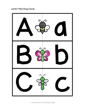 Insects and Bugs Letter Matching Cards