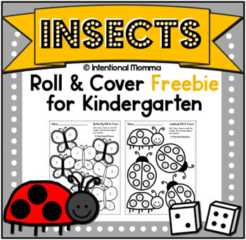 Insects and Bugs, Roll and Cover Freebie