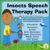 Insects and Bugs Speech Therapy Printable Pack