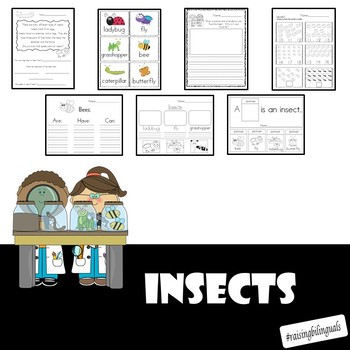 Insects and Bugs galore! (Literacy, Math and Science!)