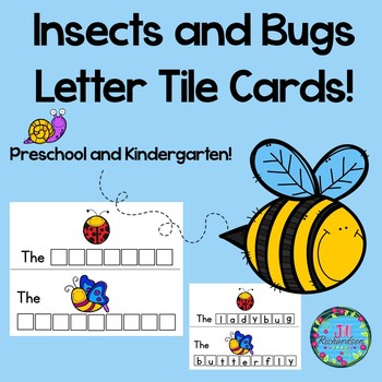 Insects and Bugs Letter Tile Cards!