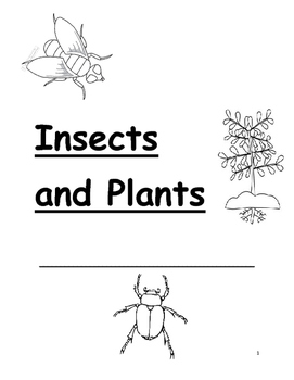 Insects and Plants Science Notebook