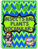 Insects and Plants Vocabulary