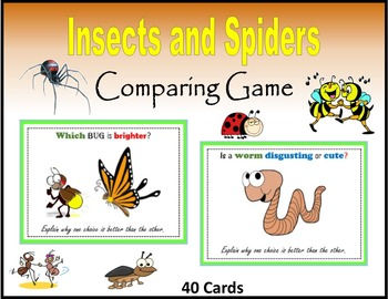 Insects and Spiders (Comparing Game)