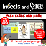Insects and Spiders Task Cards and More
