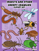 Insects and other Creepy Crawlies Clip art set
