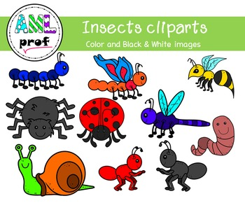 Insects, bugs clipart (insectes, bestioles)