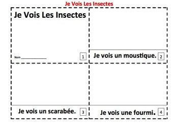 Insects in French 2 Emergent Reader Booklets - Les Insectes
