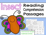 Insect Reading Comprehension Informational Passages l Bugs