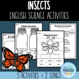 Insects - science unit activities (ENGLISH)