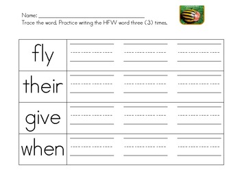 Insects-sight words and draw insect parts