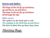 Insects songs and Ladybug Listening Game