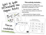Insects vs. Spiders Venn Diagram Activity