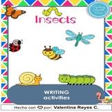 Insects writing activities - Insectos en inglés ESL. DIGITAL & PRINT
