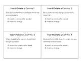 Insert-Delete a Comma Task Cards (STAAR)
