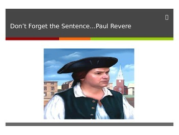 Insert The Sentence- Coherent Paragraph Game (Paul Revere)