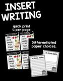 Insert Writing Bundle 1 {August - November}