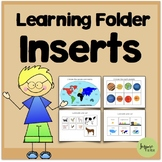 Inserts for the Learning Folder