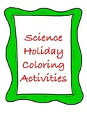 Inside Earth Holiday Science Vocabulary Coloring Activity