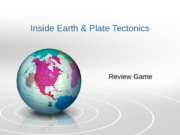 Inside Earth Plate Tectonics Review Game w/ Bullseye