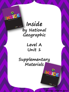 Inside Level A Unit 1 Supplementary Materials