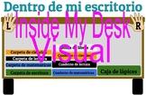 Inside My Desk Visual - Spanish EDITABLE