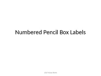 Pencil Box Labels - What to Keep Inside - Dr. Seuss Tribute Colors