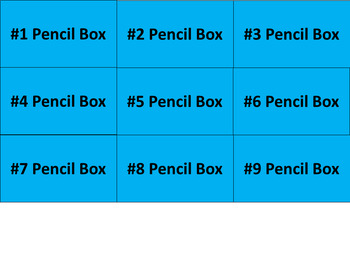 Pencil Box Labels - What to Keep Inside - Lime & Teal