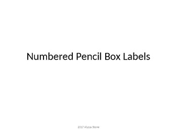 Pencil Box Labels - What to Keep Inside - Noah's Rainbow