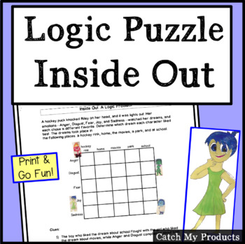 Inside Out Movie Activities & Worksheets | Teachers Pay Teachers