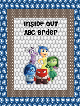 Inside Out ABC ORDER back to school