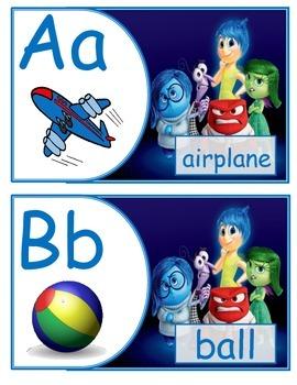 Inside Out Alphabet English