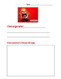 Inside Out Angry writing activity