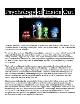 Inside Out Article and Viewing Questions