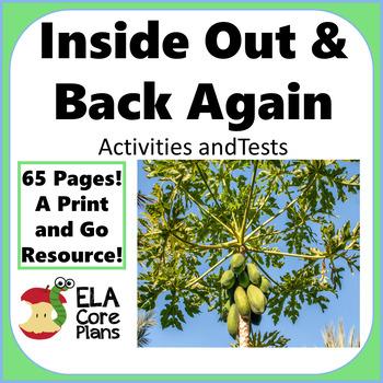 Inside Out & Back Again Novel Bundle~ Activities, Tests, R