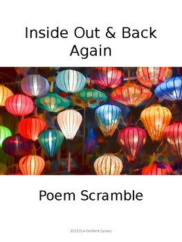 Inside Out & Back Again Poem Scramble - Early Monsoon
