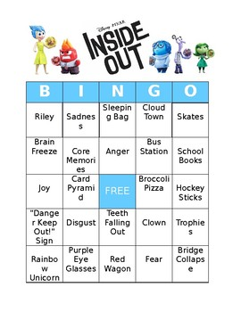 Inside Out Bingo Board