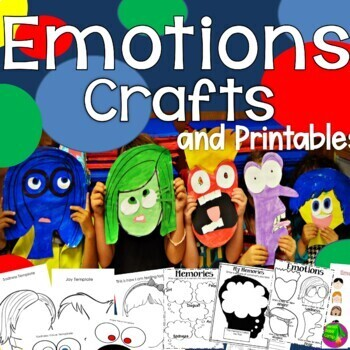 Inside Out Crafts and Emotions Printables