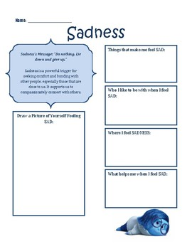 Inside Out Emotion Worksheets