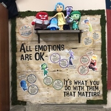 Inside Out Emotional Regulation Bulletin Board {Silhouette