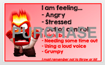 Inside Out Emotions Check In Editable
