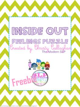Inside Out Feelings Puzzle Freebie
