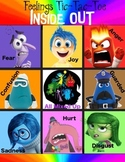 """Inside Out"" Feelings Tic-Tac-Toe"