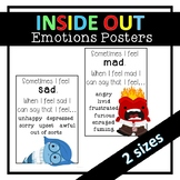 Inside Out Inspired Emotions Posters