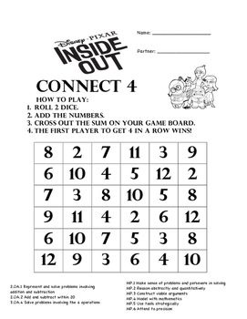 Inside Out Math Connect 4